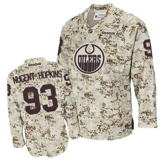 Ryan Nugent-Hopkins Edmonton Oilers Men's Reebok Authentic Camouflage Jersey