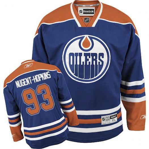 Ryan Nugent-Hopkins Edmonton Oilers Youth Reebok Premier Royal Blue Home Jersey