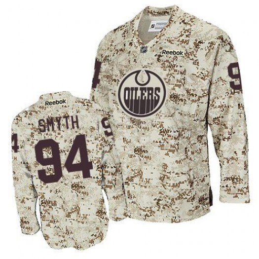 Ryan Smyth Edmonton Oilers Men's Reebok Authentic Camouflage Jersey