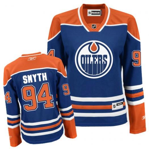 Ryan Smyth Edmonton Oilers Women's Reebok Authentic Royal Blue Home Jersey