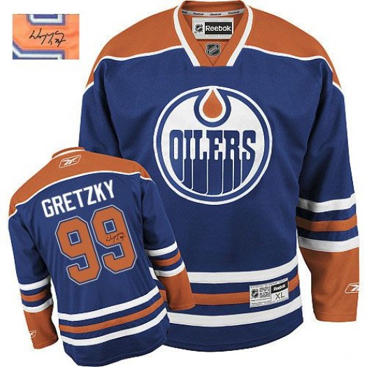 Wayne Gretzky Edmonton Oilers Men's Reebok Authentic Royal Blue Home Autographed Jersey