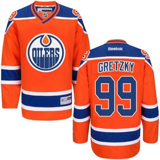 Wayne Gretzky Edmonton Oilers Youth Reebok Premier Orange Third Jersey