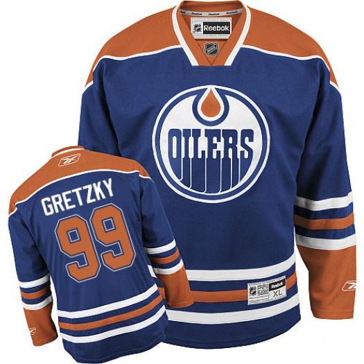 Wayne Gretzky Edmonton Oilers Youth Reebok Premier Royal Blue Home Jersey