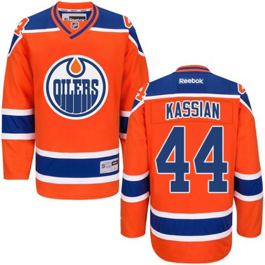 Zack Kassian Edmonton Oilers Men's Reebok Premier Orange Third Jersey