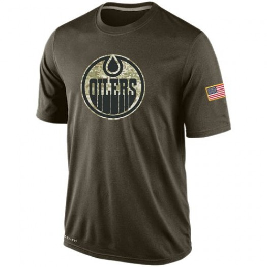 Edmonton Oilers Men's Nike Olive Salute To Service KO Performance Dri-FIT T-Shirt