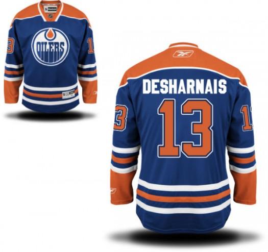 David Desharnais Edmonton Oilers Men's Reebok Replica Royal Blue Home Jersey