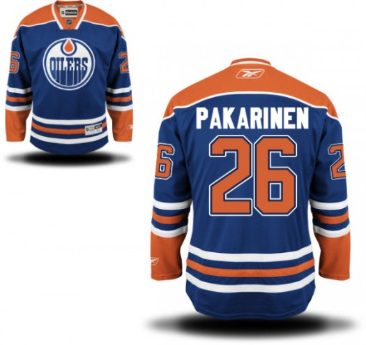 Iiro Pakarinen Edmonton Oilers Men's Reebok Replica Royal Blue Home Jersey