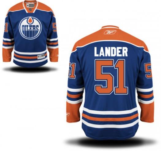 Anton Lander Edmonton Oilers Youth Reebok Authentic Royal Blue Home Jersey