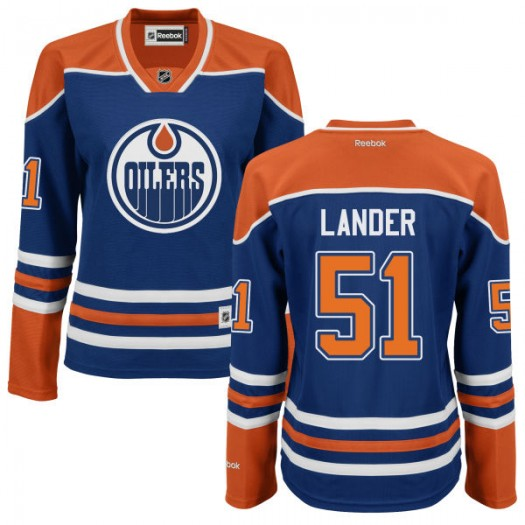 Anton Lander Edmonton Oilers Women's Reebok Authentic Royal Blue Jersey