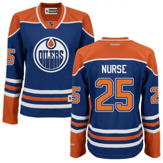 Darnell Nurse Edmonton Oilers Women's Reebok Authentic Royal Blue Jersey