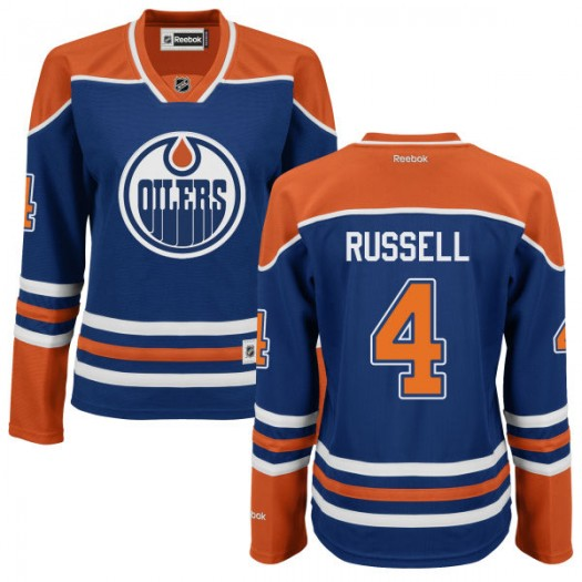 Kris Russell Edmonton Oilers Women's Reebok Authentic Royal Blue Jersey