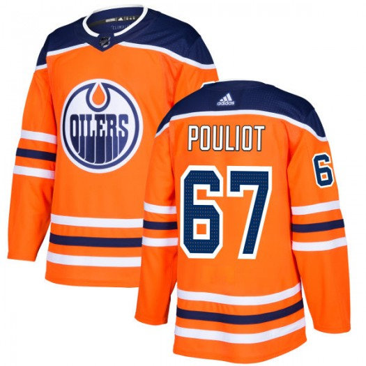 Benoit Pouliot Edmonton Oilers Men's Adidas Authentic Royal Jersey