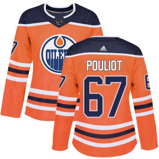 Benoit Pouliot Edmonton Oilers Women's Adidas Authentic Orange Home Jersey