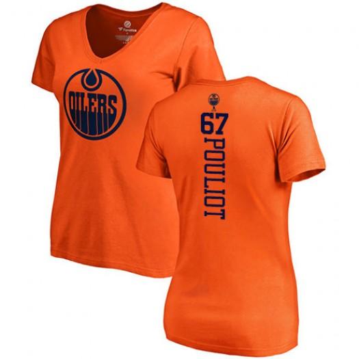 Benoit Pouliot Edmonton Oilers Women's Adidas Premier Orange Home Jersey