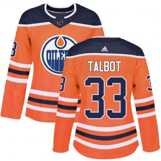 Cam Talbot Edmonton Oilers Women's Adidas Authentic Orange Home Jersey