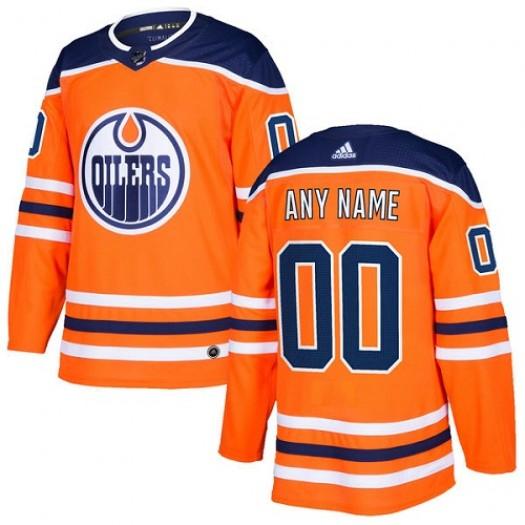 Men's Adidas Edmonton Oilers Customized Premier Orange Home Jersey