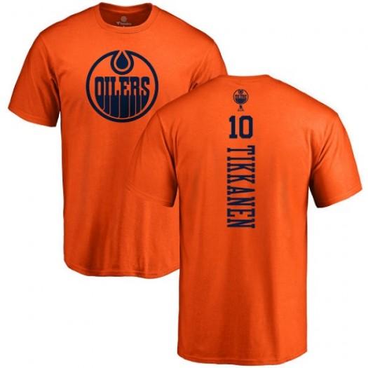 Esa Tikkanen Edmonton Oilers Youth Adidas Premier Orange Home Jersey