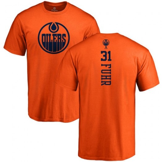 Grant Fuhr Edmonton Oilers Youth Adidas Premier Orange Home Jersey