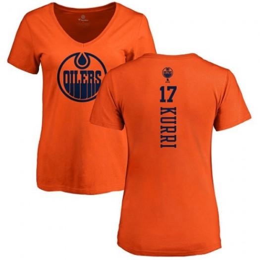 Jari Kurri Edmonton Oilers Women's Adidas Premier Orange Home Jersey