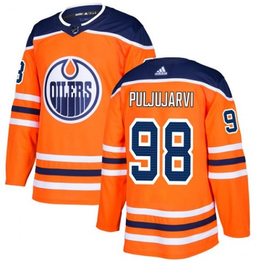 Jesse Puljujarvi Edmonton Oilers Youth Adidas Authentic Orange Home Jersey