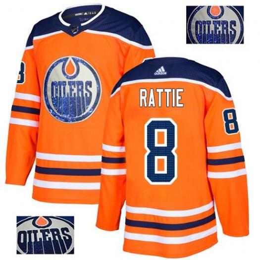 Jonas Gustavsson Edmonton Oilers Men's Adidas Premier Orange Home Jersey