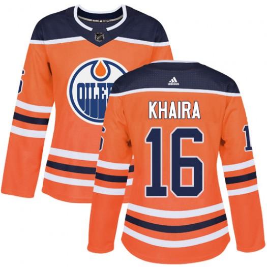 Jonas Gustavsson Edmonton Oilers Women's Adidas Authentic Orange Home Jersey