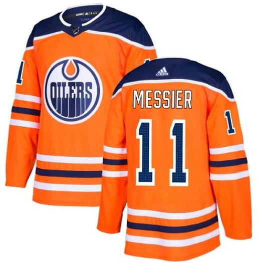 Mark Messier Edmonton Oilers Men's Adidas Premier Orange Home Jersey
