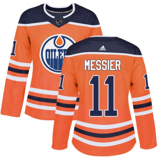 Mark Messier Edmonton Oilers Women's Adidas Authentic Orange Home Jersey