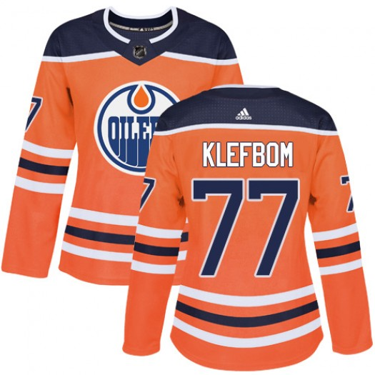 Oscar Klefbom Edmonton Oilers Women's Adidas Authentic Orange Home Jersey