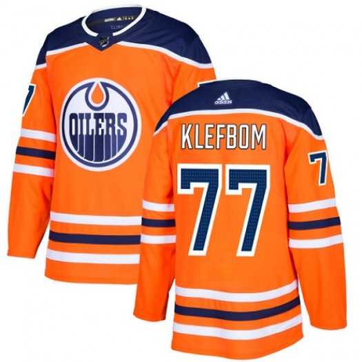 Oscar Klefbom Edmonton Oilers Youth Adidas Authentic Orange Home Jersey