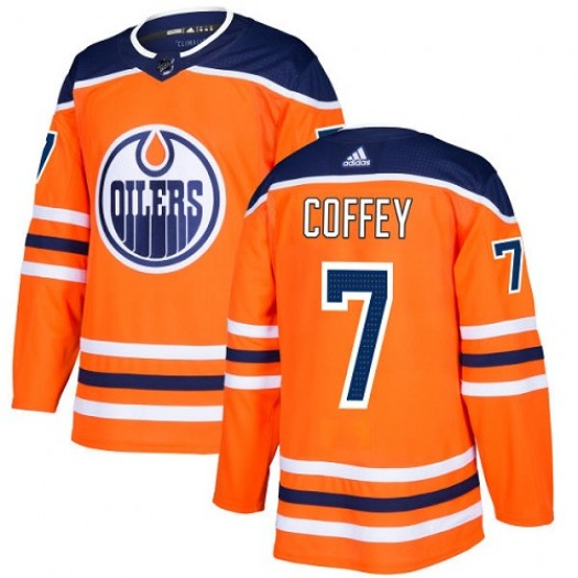 Paul Coffey Edmonton Oilers Youth Adidas Authentic Orange Home Jersey