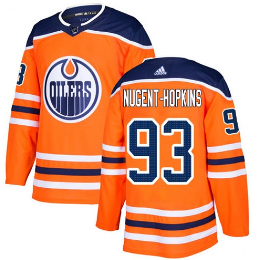 Ryan Nugent-Hopkins Edmonton Oilers Youth Adidas Authentic Orange Home Jersey