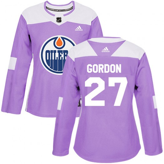 Boyd Gordon Edmonton Oilers Women's Adidas Authentic Purple Fights Cancer Practice Jersey