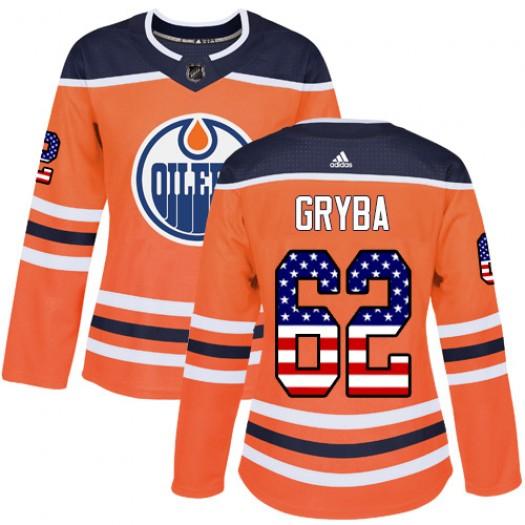 Eric Gryba Edmonton Oilers Women's Adidas Authentic Orange USA Flag Fashion Jersey